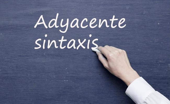 adyacente sintaxis